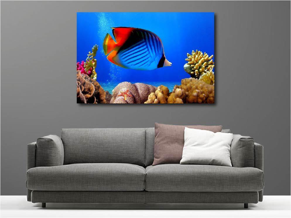 Gemälde Gemälde Deko Set Fisch Mehrfarbig Ref 62567335