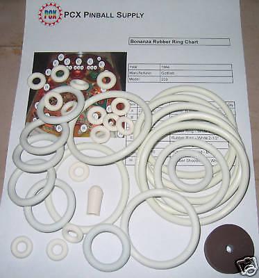 1964 Gottlieb Bonanza Pinball Rubber Ring Kit | eBay
