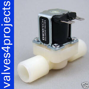 1-2-034-Gravity-Feed-Electric-Solenoid-Valve-12-volt-DDT-CD-12VDC-Plastic-Body-N-C