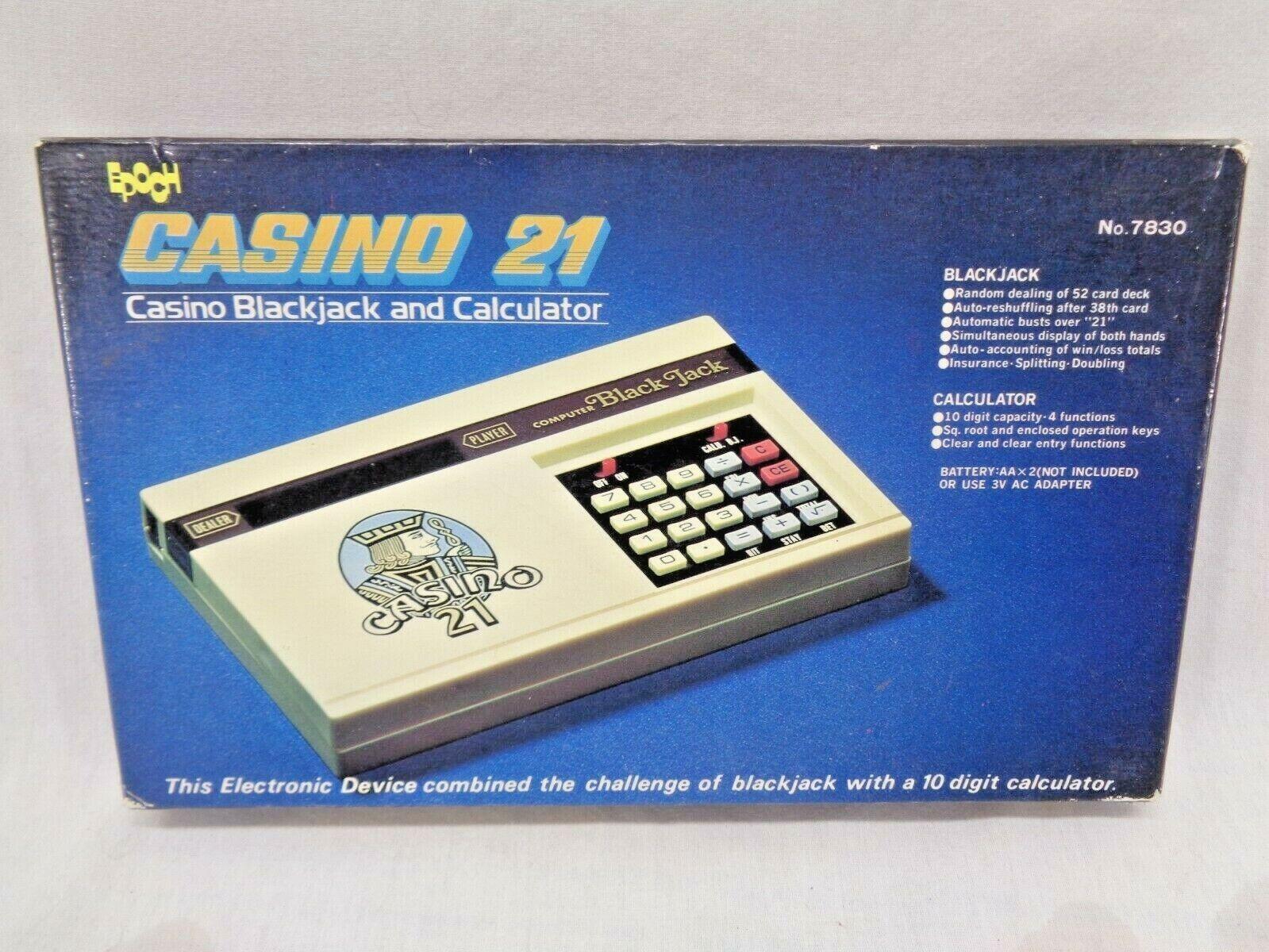 1978 época Casino 21 negrojack y Calculadora Juego Portátil Electrónica Nº 7830