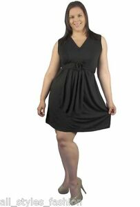 Plus-Size-Dress-Sleeveless-Black-Red-Lilac-NWT-16-18-20