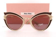 Brand New Miu Miu Sunglasses MU 05SS VHY 6X1 Brown/Brown Purple For Women