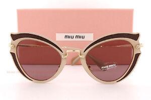 e350b882dbd4 Brand New Miu Miu Sunglasses MU 05SS VHY 6X1 Brown brown ...