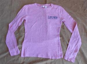 American Eagle Light Pink Long Sleeve T Shirt Shirt