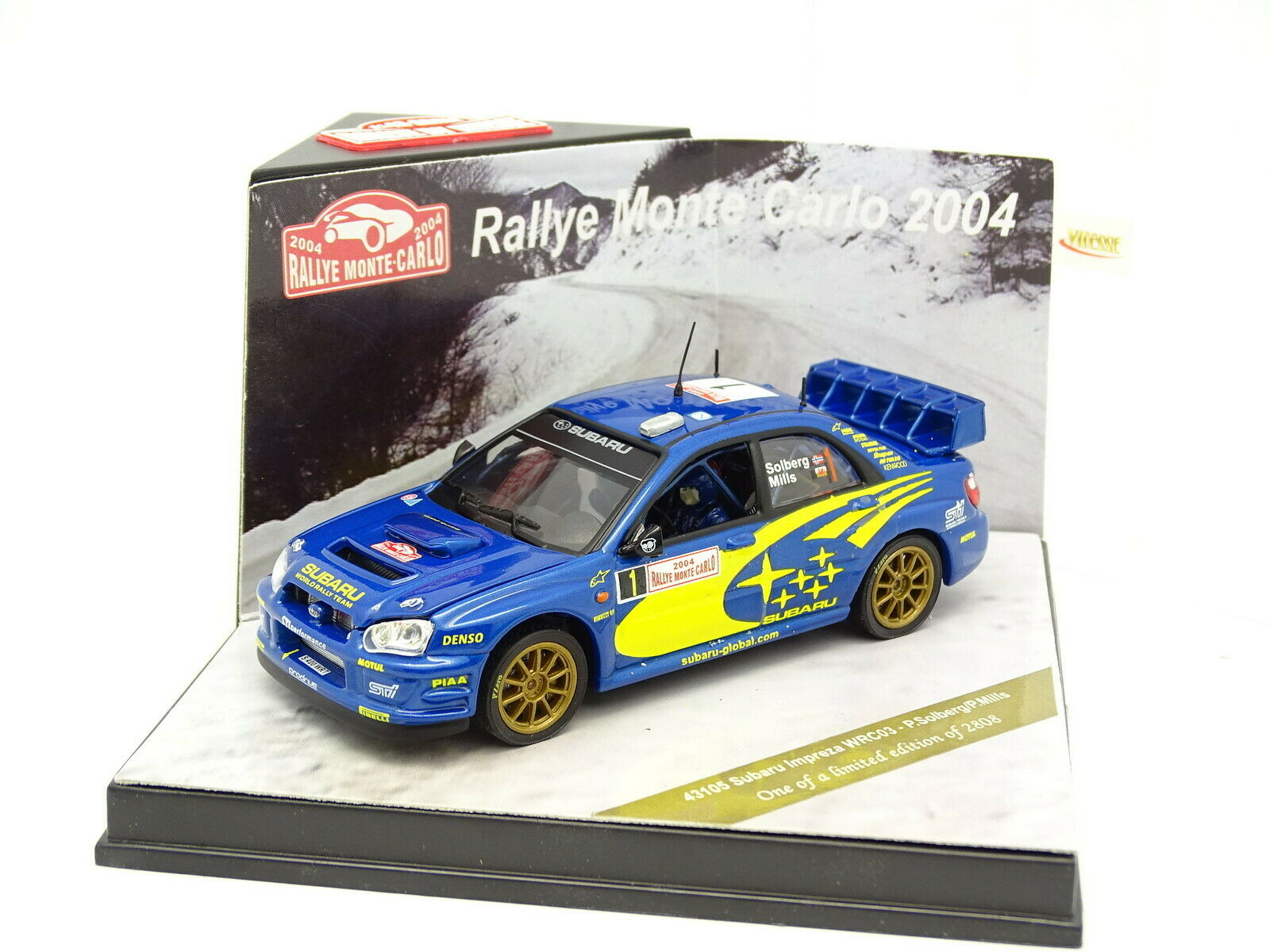 Vitesse 1/43 - Subaru Impreza WRC Rally Carlo 2004