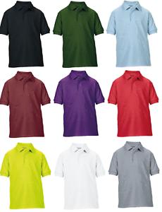 Maglietta-POLO-Bambini-Scuola-per-Bambini-Top-PE-T-Ragazzi-Ragazze-Classic-Polo