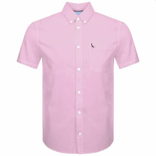 Jack Wills Stableton Oxford Shirt Short Sleeve Pink Size M *REF15