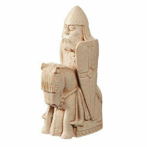 El Ajedrez Lewis-Knight-réplica Pieza De Ajedrez 9.5cm
