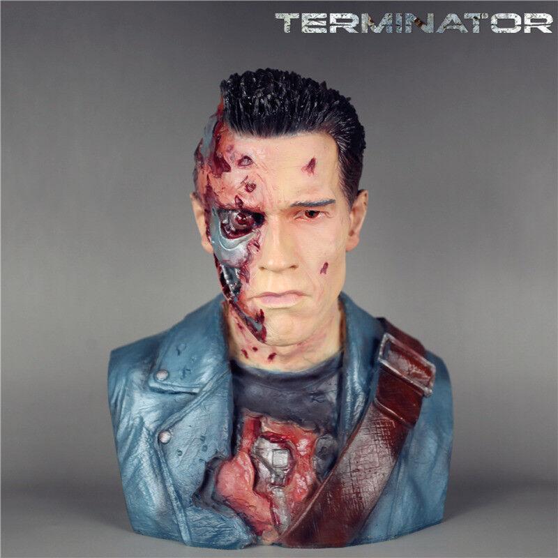 Terminator - genesis t800 1   2 'schlacht beschädigt edition bild statue harz.