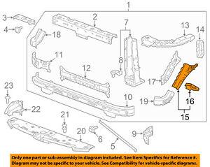 GM OEM Radiator Core Support-Stop Bracket 25811768