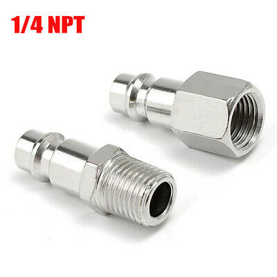 5Pcs 1//4 NPT Quick Coupler Air Line Hose Compressor Fittings Connector Tools