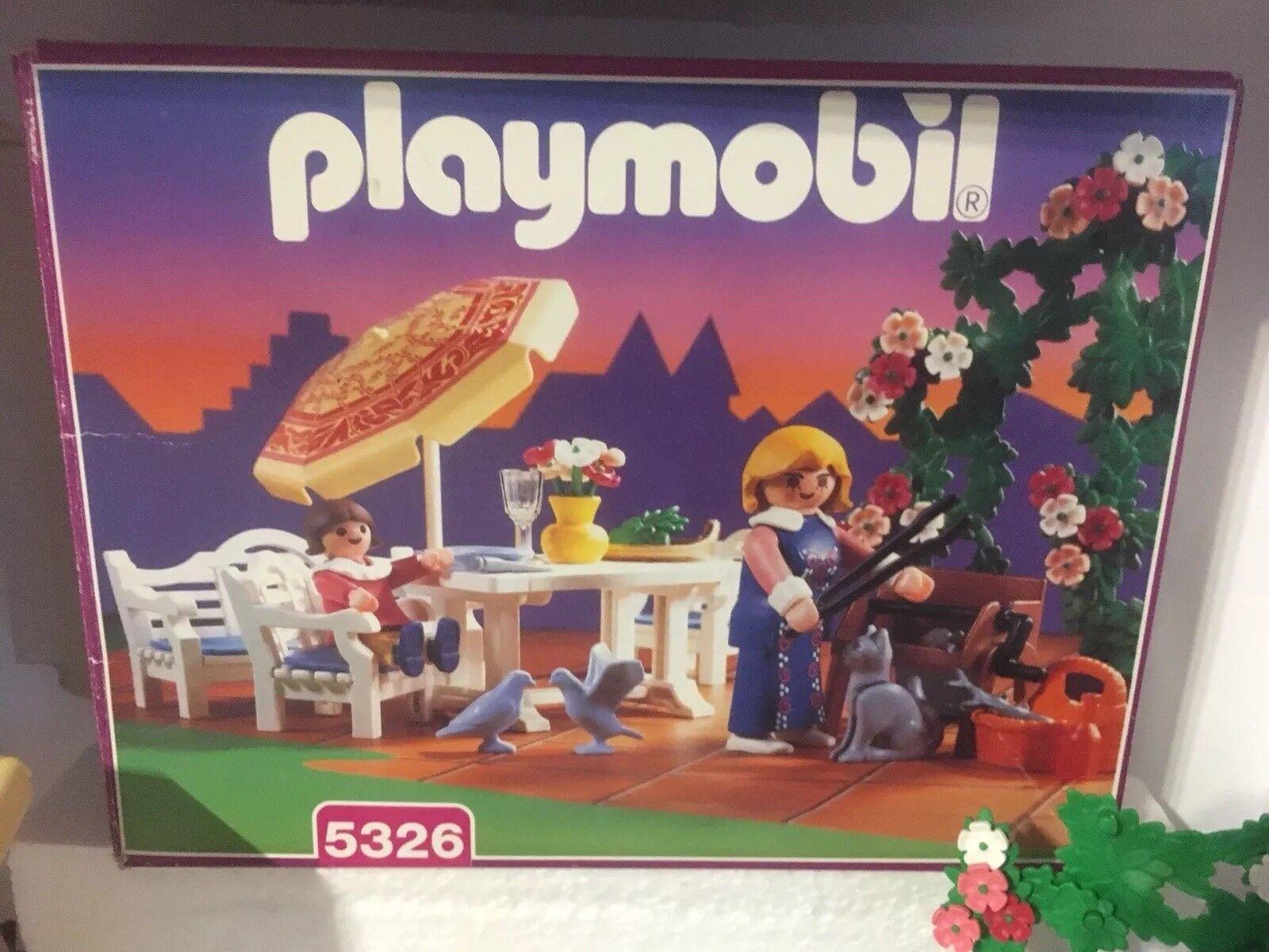 Playmobil Terrassenset 5326 Nostalgie zu 5300 Rosa Serie