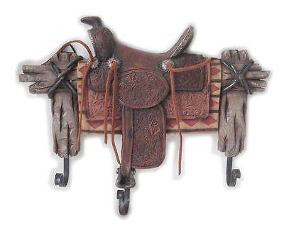 Kleiderhaken Wandhaken Huthaken Haken Garderobe Western Cowboy Sattel Saddle