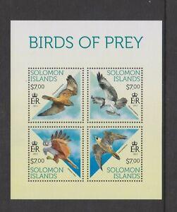 Solomon Islands - 2013, Birds of Prey sheet - MNH