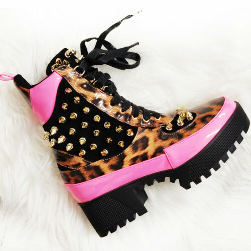 Damenschuhe Stiefel Militärschuhe Stachel Leopard Carrarmato Toocool Q2AX1946-6