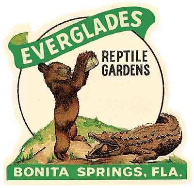 Bonita Springs Fl Everglades Park Vintage Looking Travel