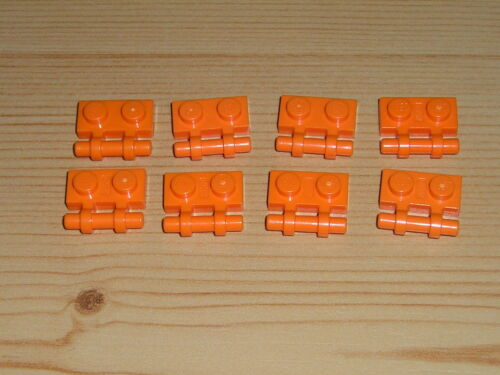 Lego  8 x Steine Platte 1x2 2540 orange 7693 7645 7647 8108 4500 7646 7695 7706
