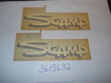 1971 72 73 74  PLYMOUTH SCAMP FENDER DECAL PAIR (2) NOS 3613632 ORIGINAL RARE