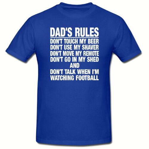 funny novelty homme T shirt,sm-2xl DAD/'s règles t shirt