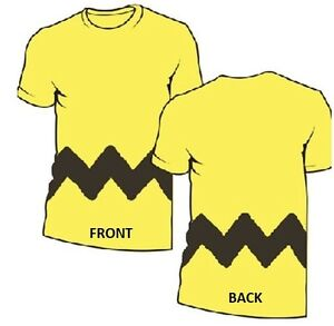 CHARLIE-BROWN-costume-cosplay-Licensed-Peanuts-MENS-tee-t-shirt-S-M-L-XL-2XL-3XL
