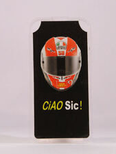 "MINICHAMPS MARCO SIMONCELLI PITBOARDS MOTOGP SCALA 1/12 ""CASCO CIAO SIC"" NEW"