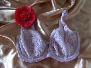 Marks /& Spencer Per Una Mauve Padded Bra with Cream Embroidery Underwired