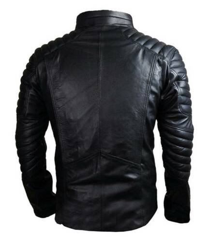 Men/'s Superman Movie Fan Smallville Man of Steel Black Designer Leather Jacket