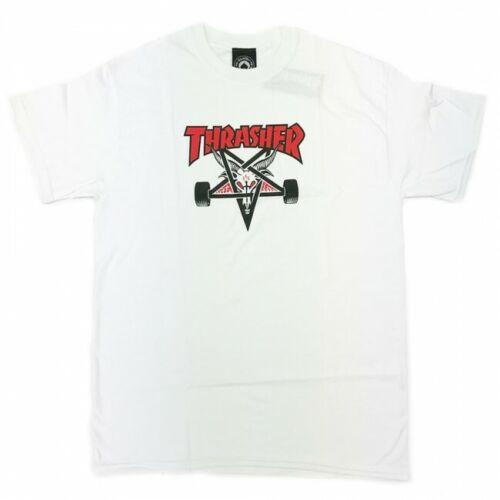 White Genuine Thrasher Skateboard Magazine Two-Tone Skategoat T-Shirt Large