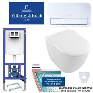 Details zu Villeroy & Boch Wand WC Subway 2.0 Combi-Pack, WC-Sitz und  Vorwandelement UD-30