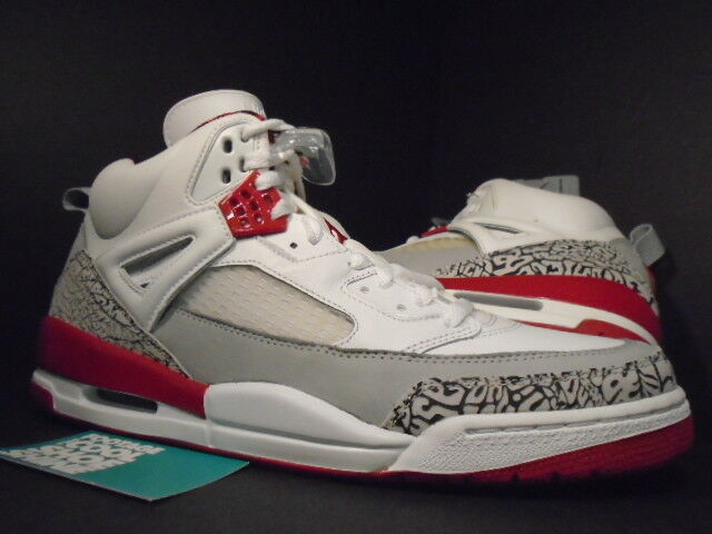 2007 Nike Air Jordan SPIZIKE WHITE GREY FIRE RED CEMENT COOL GREY WHITE BLACK 315371-164 13 42f577