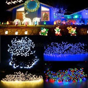 vielf/ärbig Haus,Dekoration Weihnachten Hochzeit Feier Festakt und Fest Deko Garten Lichterkette f/ür Au/ßen Party Ankway solar lichterkette led lichterketten 16FT 30LED Lichterkette Au/ßen