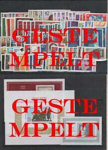 Germany-GDR-DDR-Annata-Kpl-1970-Timbrato-Used-Completo-Completa