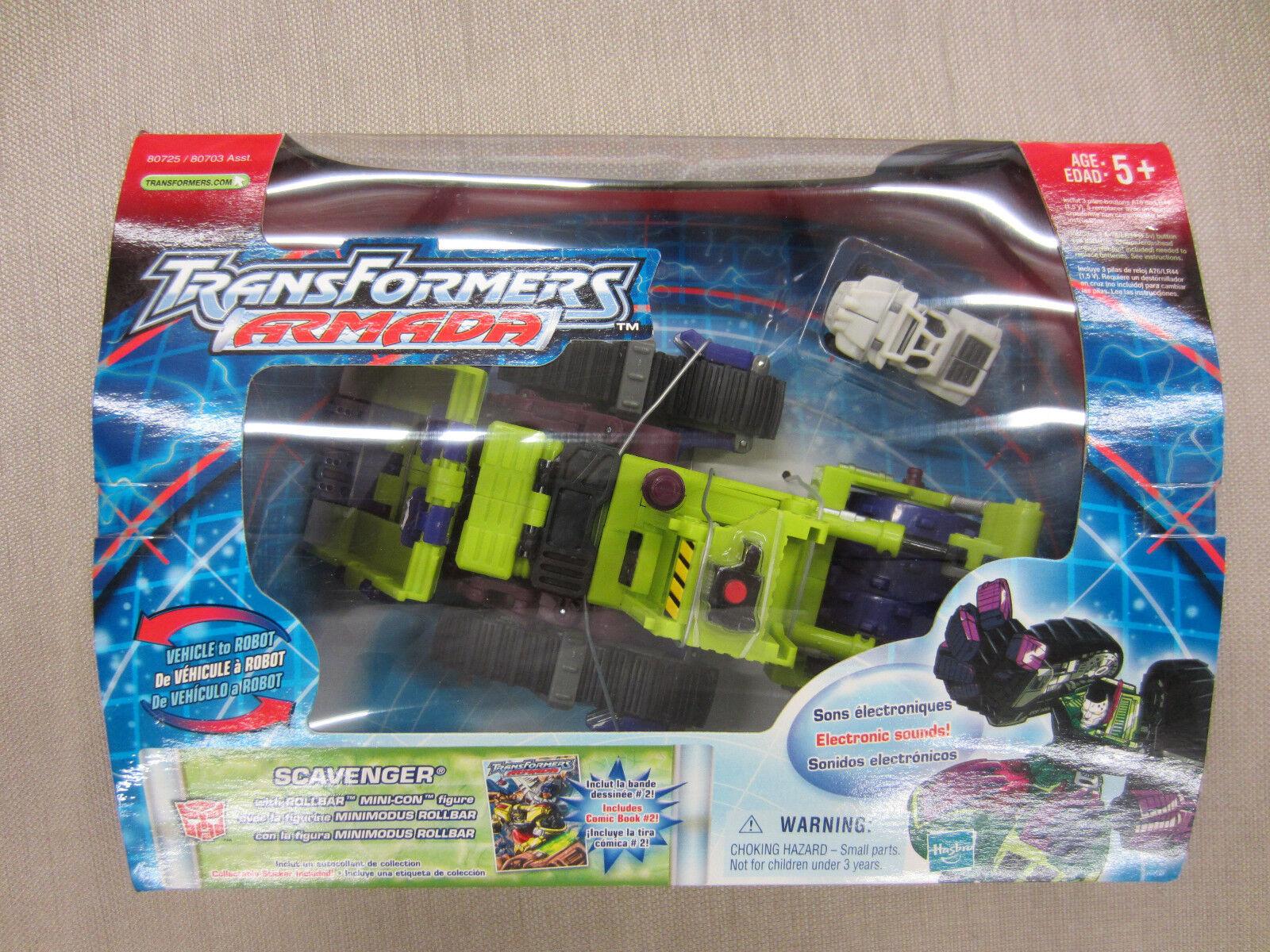 Transformers 2002 Action Figure Armada Scavenger+ mini-con and Comic Book MISB