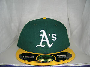 ab50b8150b41 Details about OAKLAND ATHLETICS AUTHENTIC ON-FIELD 59FIFTY HOME FITTED HAT  CAP BY NEW ERA