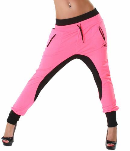 Jogginghose Haremshose Sport Damen Freizeit Fitness Größe 32 34 36 pink schwarz