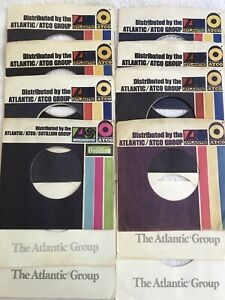 12-ATLANTIC-GROUP-45-RPM-COMPANY-SLEEVES-VERY-GOOD-NO-SEAM-SPLITS-2-STYLES