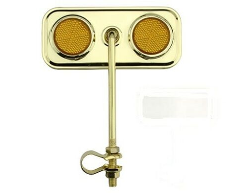 NEW BICYCLE GOLD RECTANGLE MIRROR REFLECTOR LOWRIDER CRUISER MTB  BIKES CYCLING!