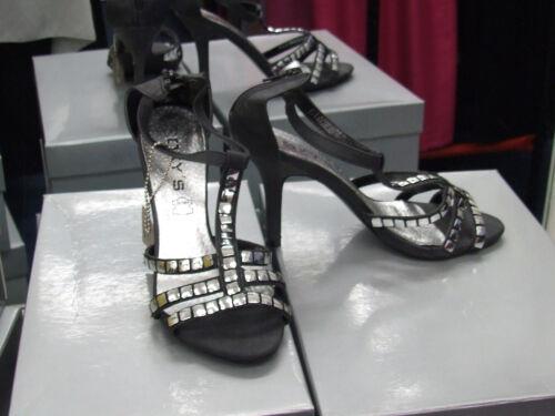 Leather Bnib Black Sandali Eu Heels 36 5 Studs Uk Stiletto Fab Silver 3 Scarpe Fgxw0qpng