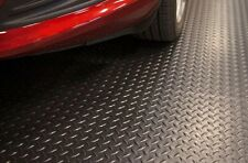 NEW 7.5'x14' Black Floor Protector Mat Garage Floor Protection Diamond Pattern