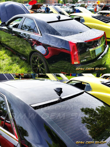 EXTREME 08-13 UNPAINTED CADILLAC CTS II SEDAN WINDOW VISOR ROOF SPOILER Furious