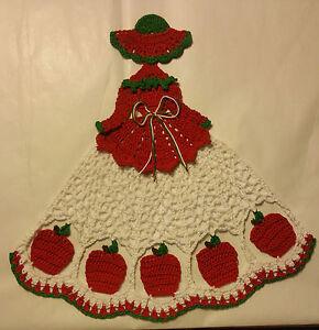 Crochet Crinoline Lady Doily - Apples