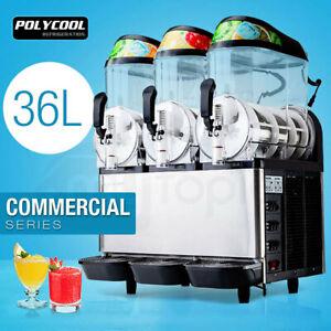 【$150 OFF】POLYCOOL 36L Slushie Machine Granita Commercial Slush Slurpee