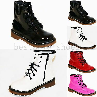 CHILDRENS GIRLS KIDS GRIP SOLE WINTER LACE UP ANKLE BOOTS TRAINERS SHOES SIZE
