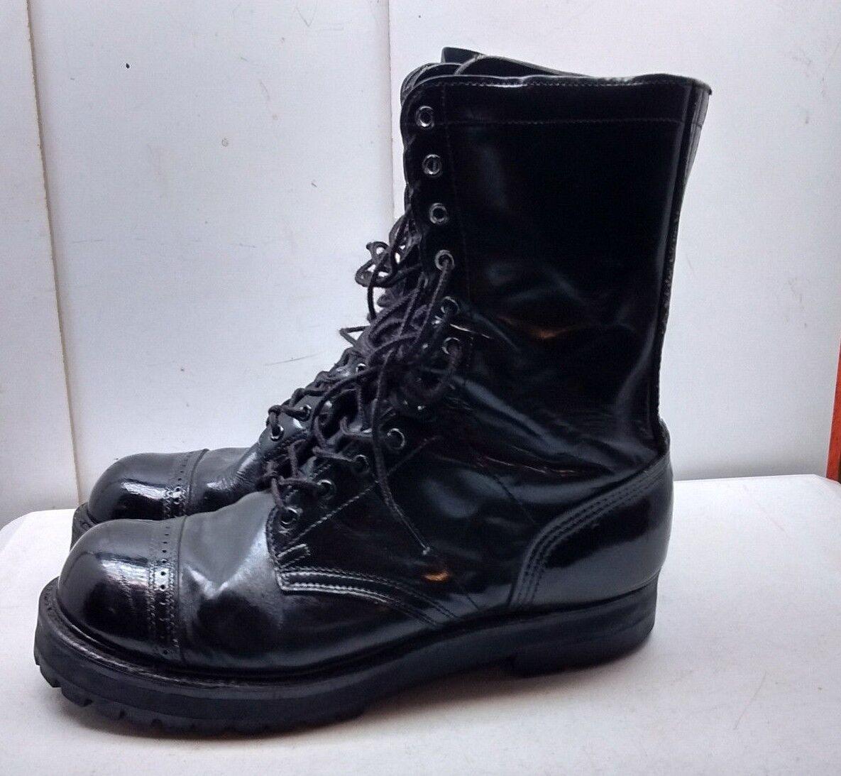 Double H marca HH salto de arranque de Cuero Negro Militar Corcoran Combate Hombres Zapatos 11M