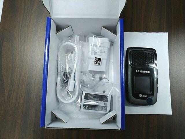 Samsung Rugby II SGH-A847 Black GSM (Unlocked) Flip Phone Cellular New Open Box