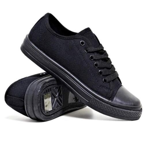Mens Lace Up Casual Canvas Shoes Plimsolls Pumps Skates Trainers Size 7-12 New