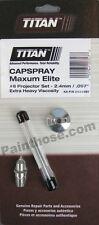 Titan 0524297 Or 524297 Hvlp Capspray Elite Proset 6 Oem Projector Set 24mm