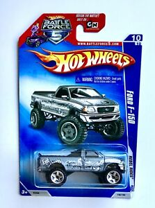 Hot Wheels Battle Force 5 Die Cast Car 2009 Ford F 150 Rebel Rides Gray 146 190 Ebay