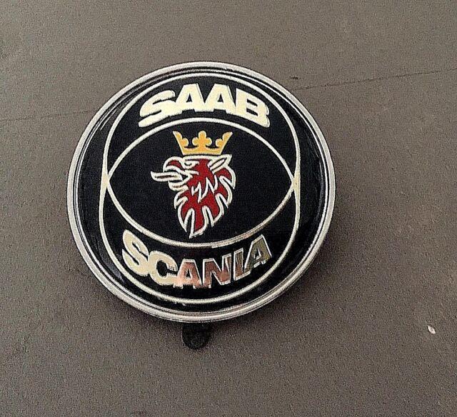 SAAB SCANIA 9-3 9000 900 RESIN FRONT HOOD BONNET BADGE 50MM NEW PART # 4522884