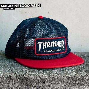 dc00776f690 Image is loading Thrasher-Magazine-UNSTRUCTURED-MAG-PATCH-MESH-Snapback- Skateboard-